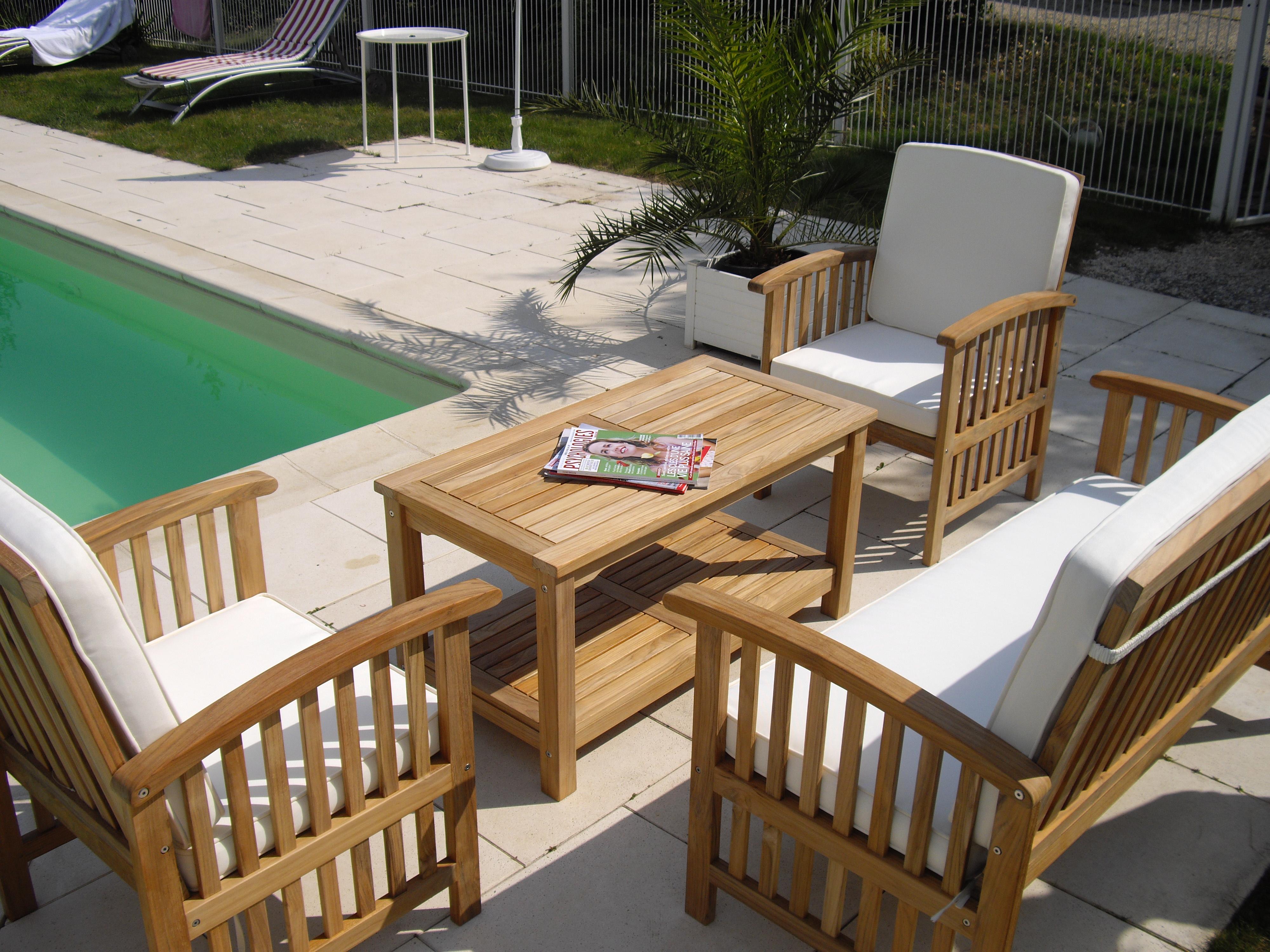 Le fauteuil de jardin en teck de chez Lignes et bois ...